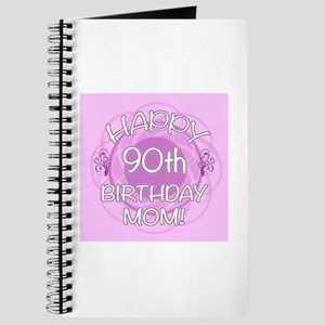 90th Birthday For Mom (Floral) Journal
