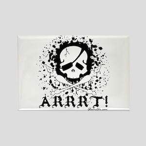 Pirate Arrrt Rectangle Magnet