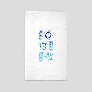 BlueHonuTikiTee 3'x5' Area Rug