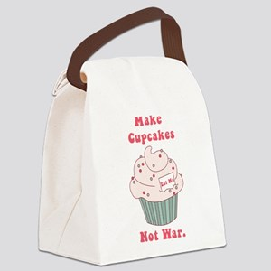 Make Cupcakes Not War Canvas Lunch Bag
