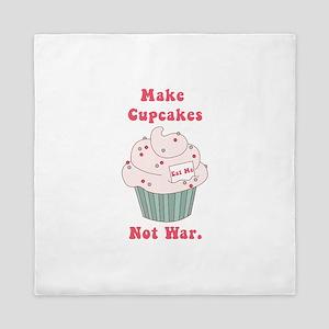 Make Cupcakes Not War Queen Duvet