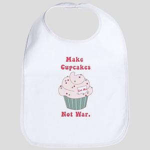 Make Cupcakes Not War Bib
