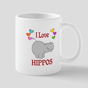 I Love Hippos Mug