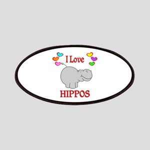 I Love Hippos Patches