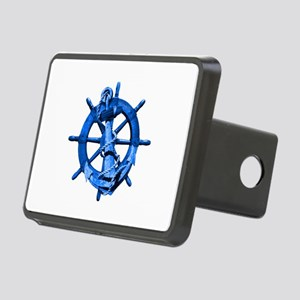 Blue Ship Anchor And Helm Hitch Cover