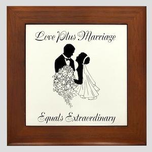 Love Plus Marriage... Framed Tile