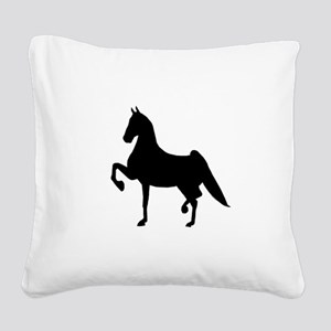 Saddlebred Square Canvas Pillow