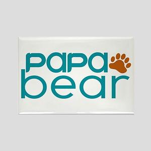 Matching Family - Papa Bear Rectangle Magnet