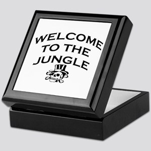 WELCOME TO THE JUNGLE Keepsake Box