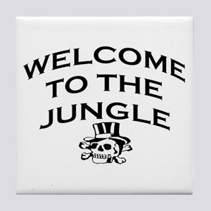 WELCOME TO THE JUNGLE Tile Coaster