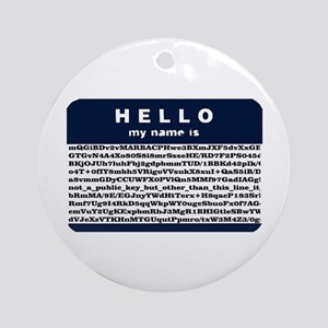 Hello, my name is encrypted. Ornament (Round)