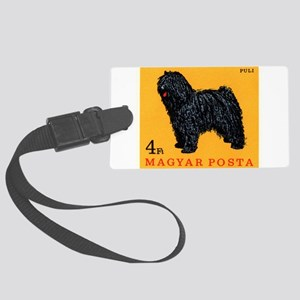 Vintage 1967 Hungary Puli Dog Postage Stamp Luggag