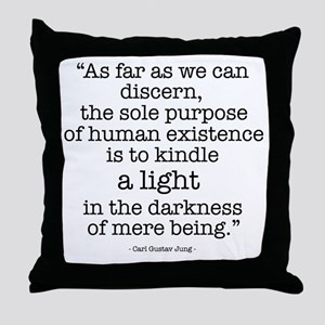'To kindle light' by Carl Jung Throw Pillow