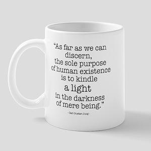 'To kindle light' by Carl Jung Mug