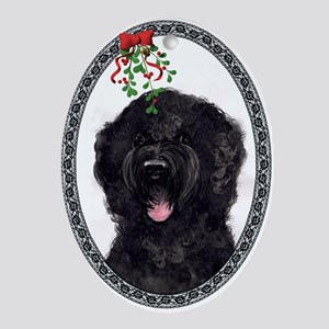 """Friendship"" Portuguese water Dog Oval Ornament"