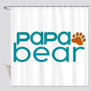 Matching Family - Papa Bear Shower Curtain