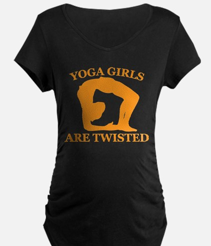 Yoga Girls are Twisted Maternity T-Shirt