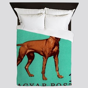 1967 Hungary Vizsla Dog Postage Stamp Queen Duvet