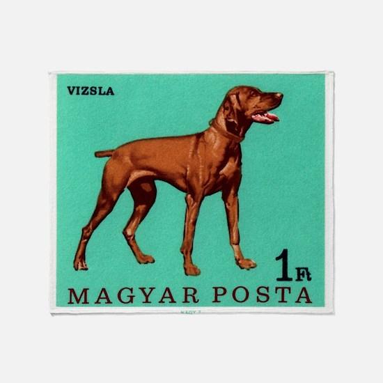 1967 Hungary Vizsla Dog Postage Stamp Throw Blanke