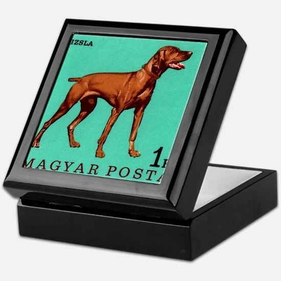 1967 Hungary Vizsla Dog Postage Stamp Keepsake Box
