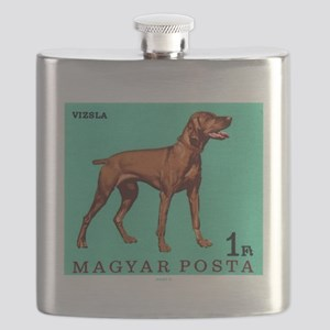 1967 Hungary Vizsla Dog Postage Stamp Flask