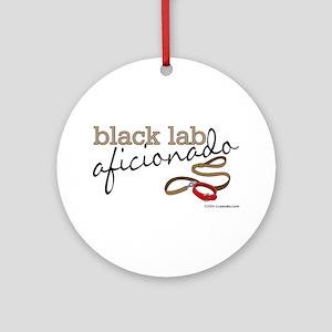Black Lab Aficionado Ornament (Round)