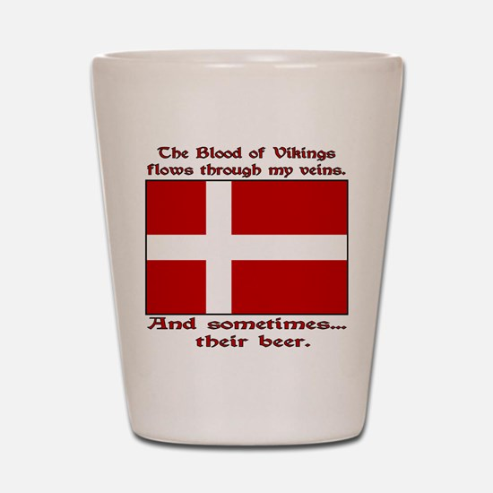 Danish Blood and Beer Shot Glass