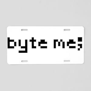 byte me; Aluminum License Plate