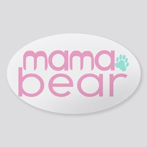 Mama Bear - Family Matching Sticker (Oval)