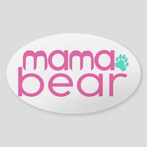 Mama Bear - Family Matching Sticker (Oval)