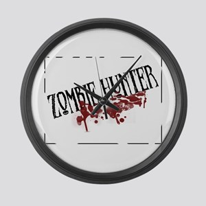 zombiehunter Large Wall Clock