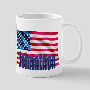 Johnathon Patriotic American Flag Gift Mug