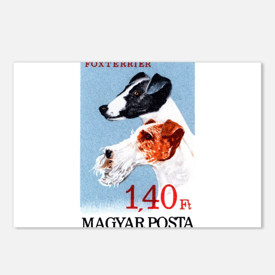 Vintage 1967 Hungary Fox Terrier Dog Postage Stamp