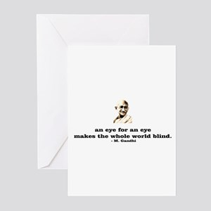 An eye for an eye makes the w Greeting Cards (Pack