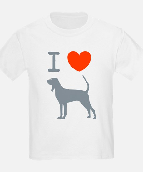 Black & Tan Coonhound Kids T-Shirt