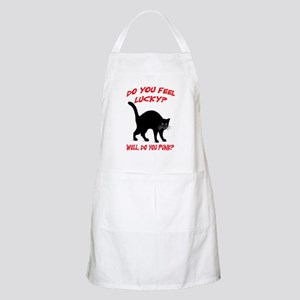 DO YOU FEEL LUCKY? (BLACK CAT) Apron