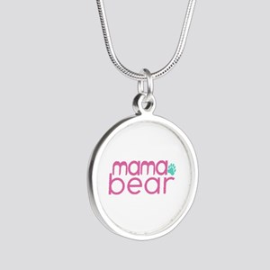 Mama Bear - Family Matching Silver Round Necklace