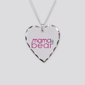 Mama Bear - Family Matching Necklace Heart Charm