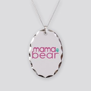 Mama Bear - Family Matching Necklace Oval Charm