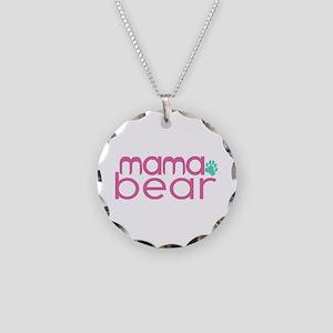 Mama Bear - Family Matching Necklace Circle Charm