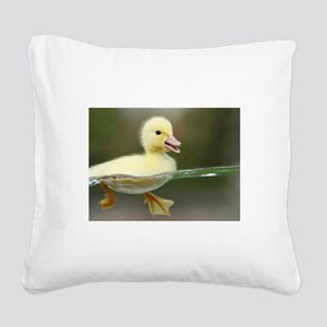 Duckling Square Canvas Pillow