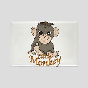 Little monkey Rectangle Magnet