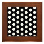Polka Dots Framed Tile