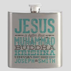 Jesus Is Better Flask