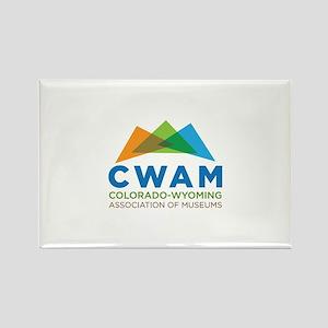 New CWAM Logo Rectangle Magnet