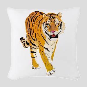 Tiger Woven Throw Pillow