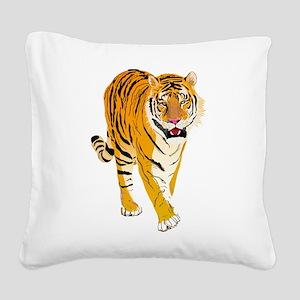 Tiger Square Canvas Pillow