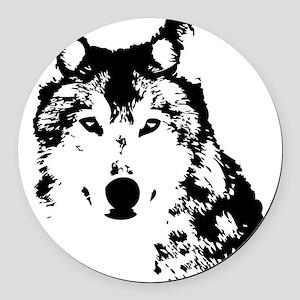 Wolf Round Car Magnet