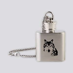 Wolf Flask Necklace