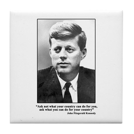 JFK Inaugural Quote Tile Coaster